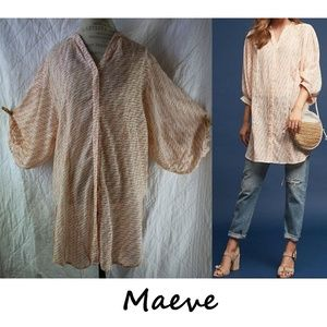 Anthropologie Yarn-Dyed Tunic By Maeve Size S